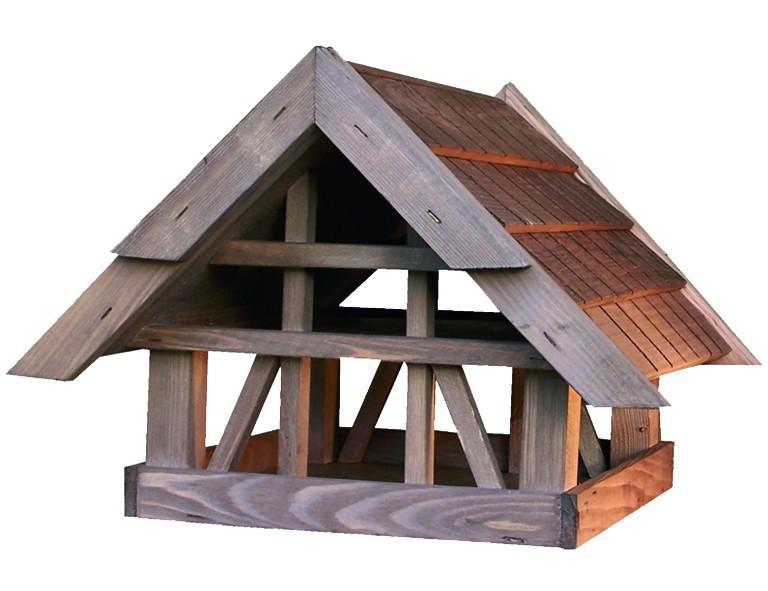 House-Garden Holz-Vogelhaus Fachwerk mit Holzschindeldach