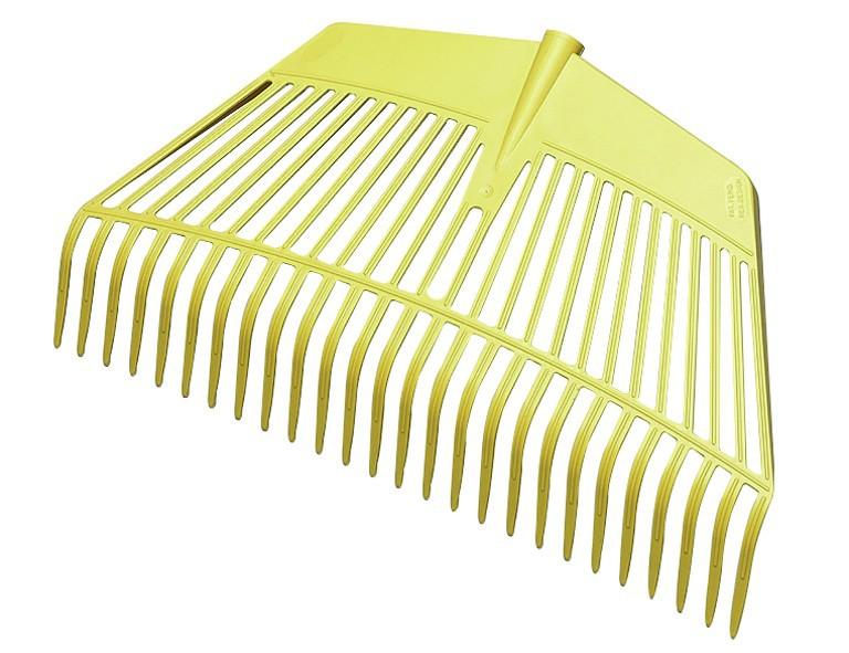 Jost Kombi-Gerät Rechen+Gabel 2 in 1 26 Zinken, Arbeitsbr.60cm, Kunststoff gelb