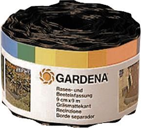 Gardena Beeteinfassung braun 9 cm hoch x 9 m lang