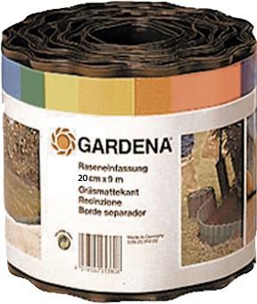 Gardena 0534-20 Beeteinfassung 9 m breit, 20 cm hoch, braun