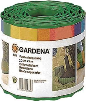 Gardena Raseneinfassung 9 x 15 cm, aus Kunststoff, Farbe: grün