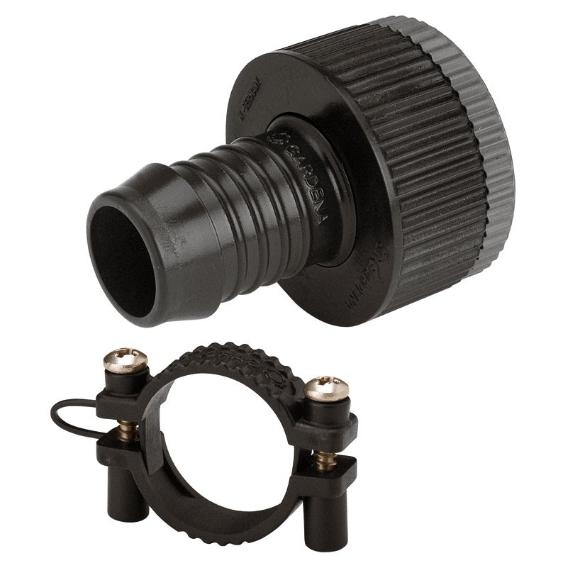 Gardena Hahnanschlussstück Sprinkler System für 19mm, 3/4, mit Schraubklemme