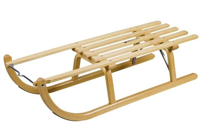 RESS Holz Schlitten Holzrodelschlitten Modell Davos 90 cm