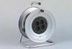 REV Kabeltrommel mit Thermoschutz Stahlblech mit 50 m PVC Kabel