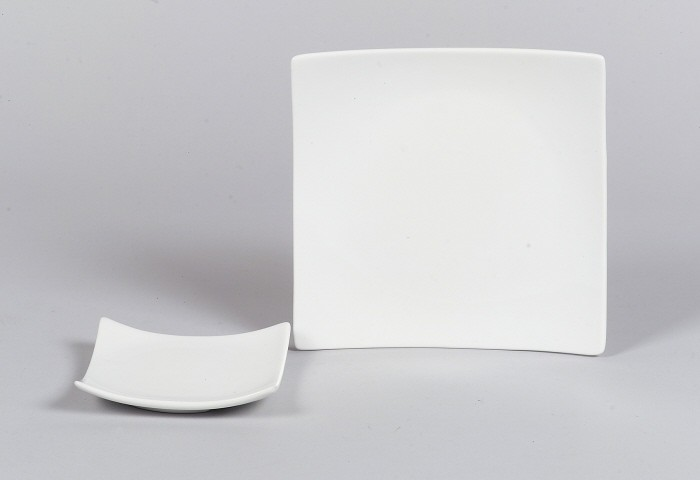 SANDRA RICH Dekoteller -Square weiss-- 10 x 10 cm