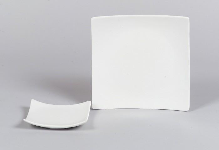 SANDRA RICH Dekoteller -Square weiss-- 16 x 16 cm