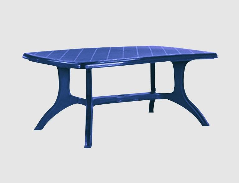 Jardin Wellington Tisch 184x103 blau Boulevardtisch, Vollkunststoff