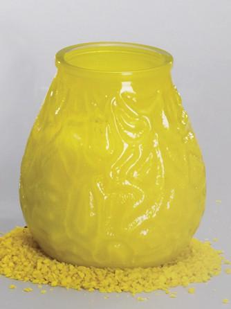 Glaswindlicht gelb R x Höhe 95 x 105 mm