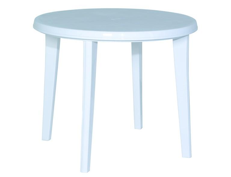 Jardin Lisa Tisch 90cm rund weiß Vollkunststoff