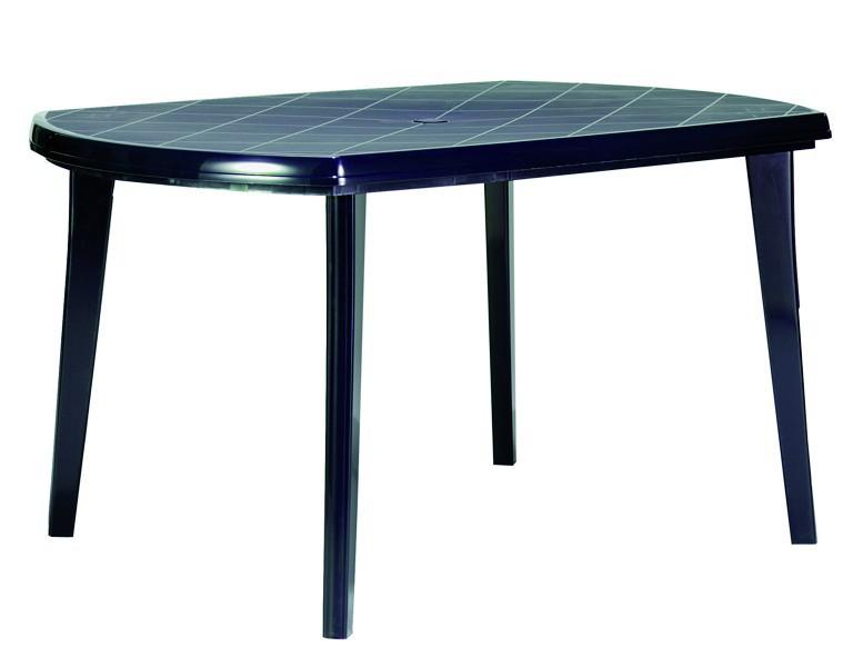 Jardin Elise Tisch 137x90cm blau oval, Vollkunststoff