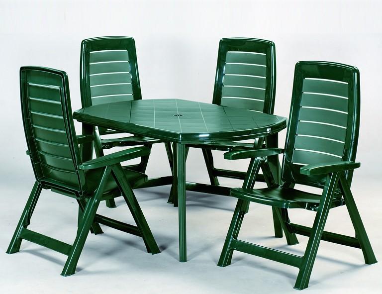 Jardin Elise Tisch 137x90cm grün oval, Vollkunststoff