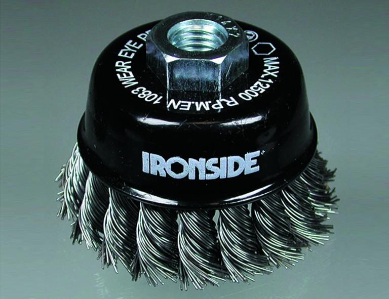 Ironside Topfbürste 65mm für Winkelschleifer