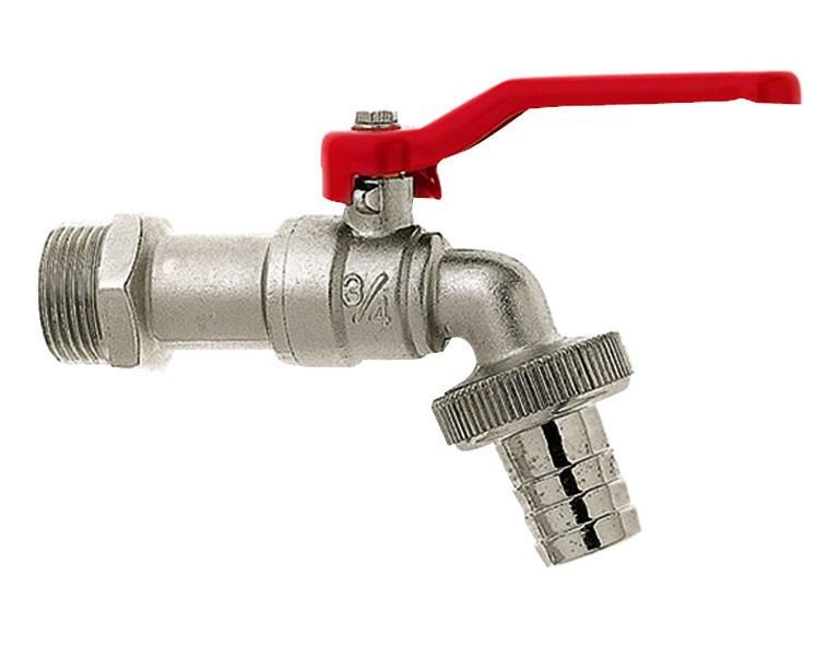Wassertechnik 571288 Messing Kugel-Auslaufventil 1,3 cm (0,5 Zoll) vernickelt