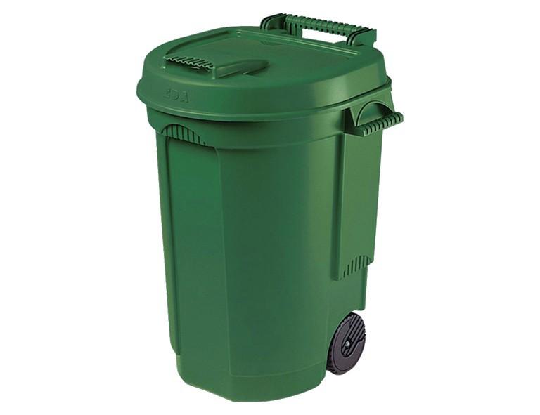 Sienagardg 10633 Fahrbarer Abfallbehälter grün, 110 L, 55 x 58 x 81 cm