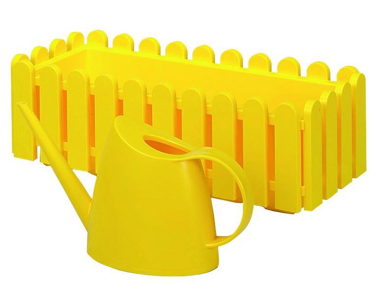 Emsa 506415 Landhaus Blumenkasten  50 cm gelb