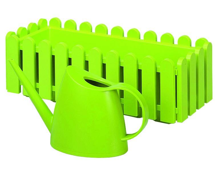 Emsa 506416 Landhaus Blumenkasten  50 cm grün