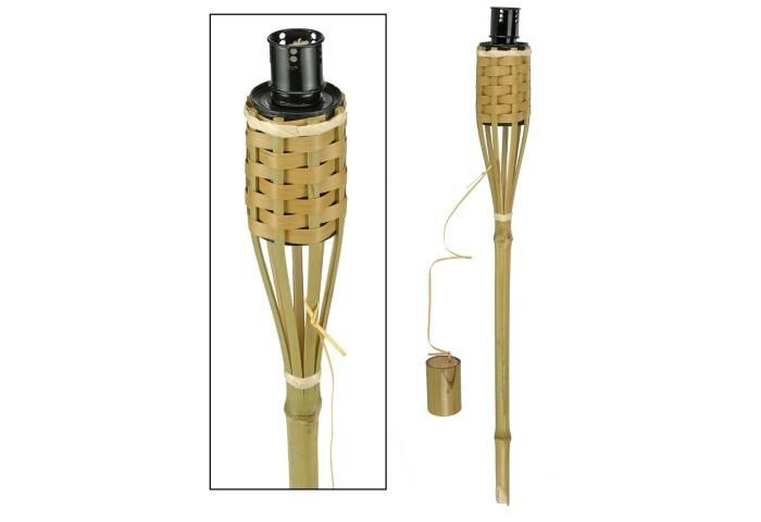 HAUSHALT Gartenfackel aus Bambus 90cm