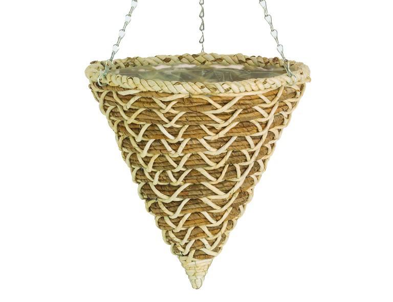 GARDMAN H�ngeampel-Vase 35cm Ban. Braid, geflochten