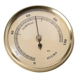 STAR Hygrometer silber 9cm Kunststoff