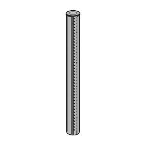 BETAFENCE Bekafor-Pfosten anth150cm D=48mm, anthrazit