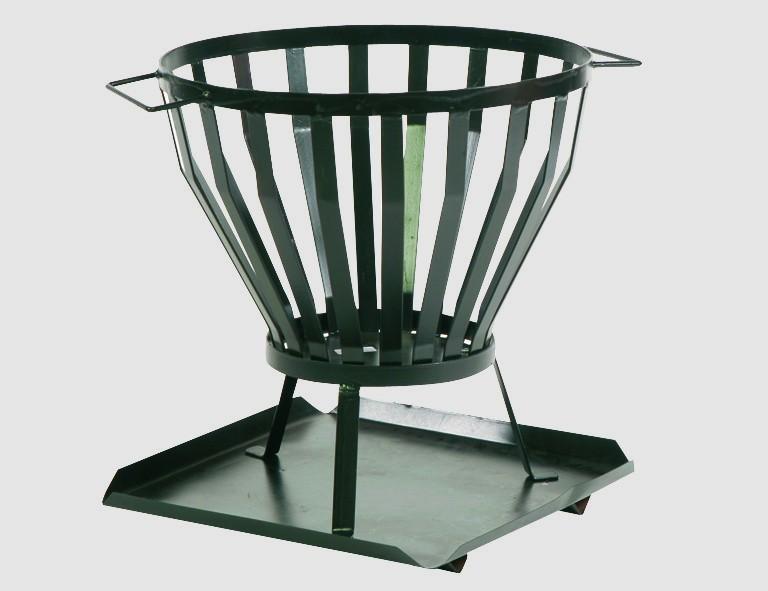 Siena Garden Feuerkorb STANDARD 3-tlg. schwarz, inkl.Bodenplatte