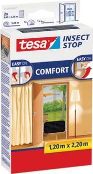 Tesa 55389-21-00 Fliegengitter anthrazit 220 x 120 / Comfort-T�r 2 x 65cm
