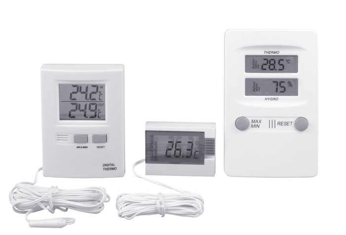 Digitales Thermometer 52 x 39 x 15 mm