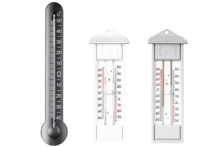 Maxima-Minima-Thermometer grau