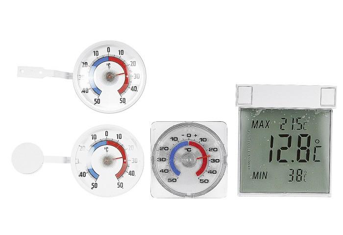 Fenster-Thermometer mit Selbstklebefolie