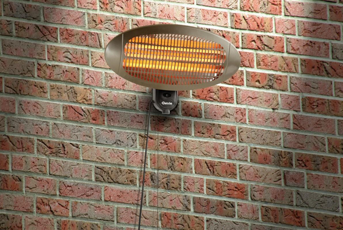 Elektrischer Heizstrahler 2000D IV f�r Wandmontage