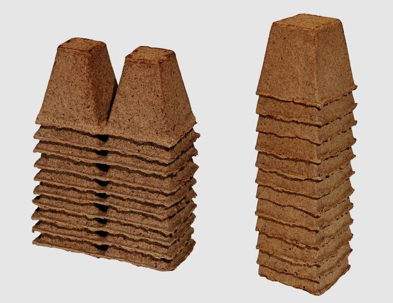 ROMBERG Anzuchttöpfe, 6 cm, eckig , 24 Stück