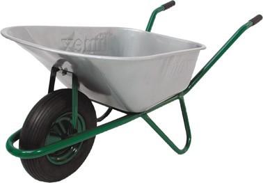 Profi-Bauschubkarre 100L grün