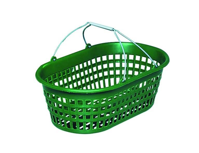 Gartenkorb 15 kg grün, oval