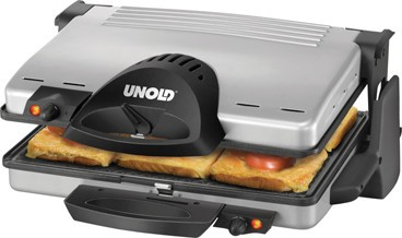 Unold 8555 Contact-Grill silber