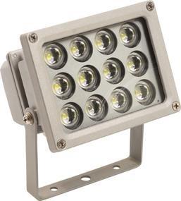 12 W LED - Strahler mit 12 LEDs, grau, IP 65