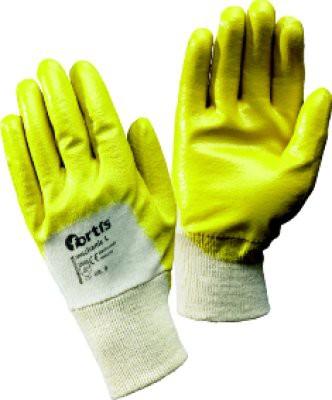 Handschuh Mechanic L, Nitril, leicht, Gr.7, gelb, FORTIS