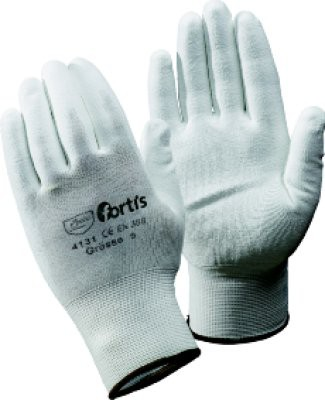 Handschuh Fitter, PU/Nylon, Gr. 9, weiß, FORTIS