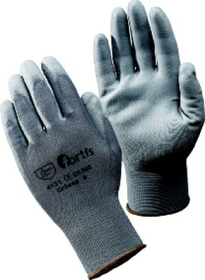 Handschuh Fitter, PU/Nylon, Gr. 7, grau, FORTIS