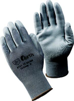 Handschuh Fitter, PU/Nylon, Gr. 8, grau, FORTIS