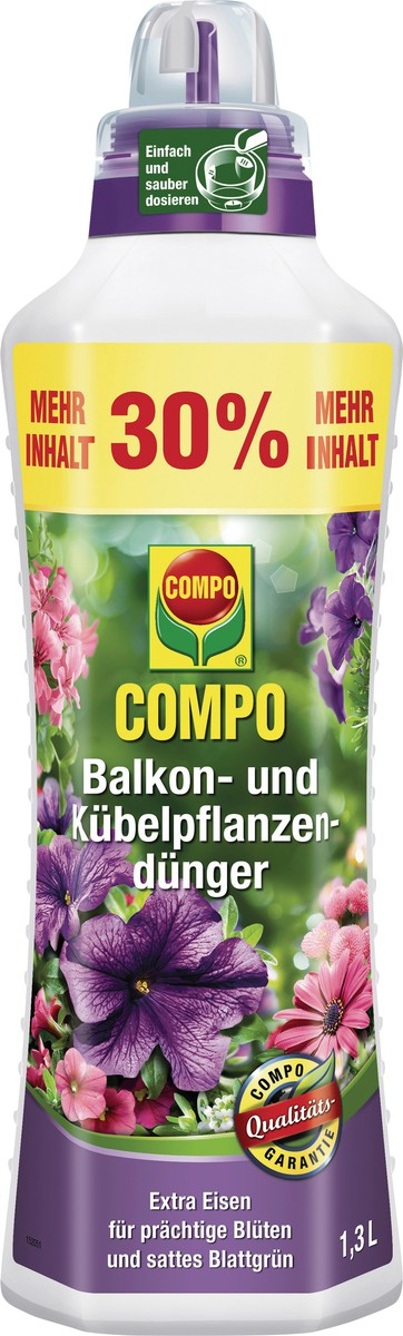 Balkon- und K�belpflanzend�nger, Compo, Flasche, 1,3 L (5,31 EURO inkl. MwSt./l)