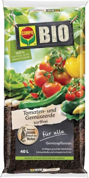 Bio Tomaten- und Gemüseerde (torffrei), Compo, Beutel, (0,27 EURO inkl. MwSt./l)