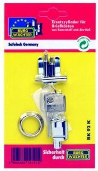 Zylinder BK 92 K SB für alle Kunststoff-/Gussbriefkästen