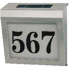 Solar-Hausnummerleuchte aus Edelstahl (rostfrei)