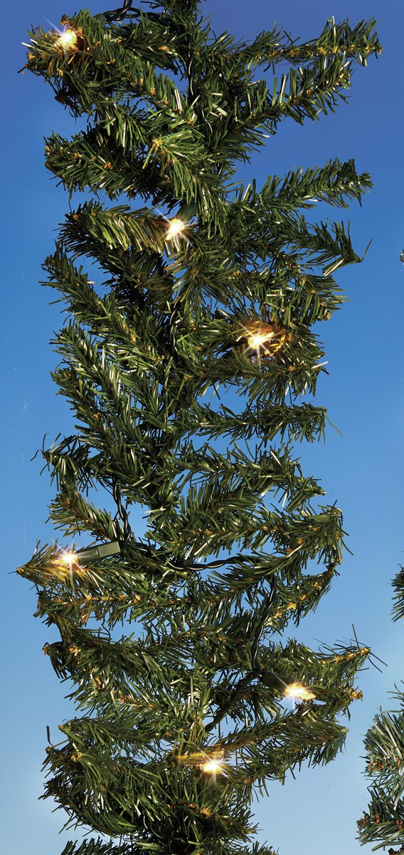 BREMA Girlande 270cm grün mit Beleuchtung