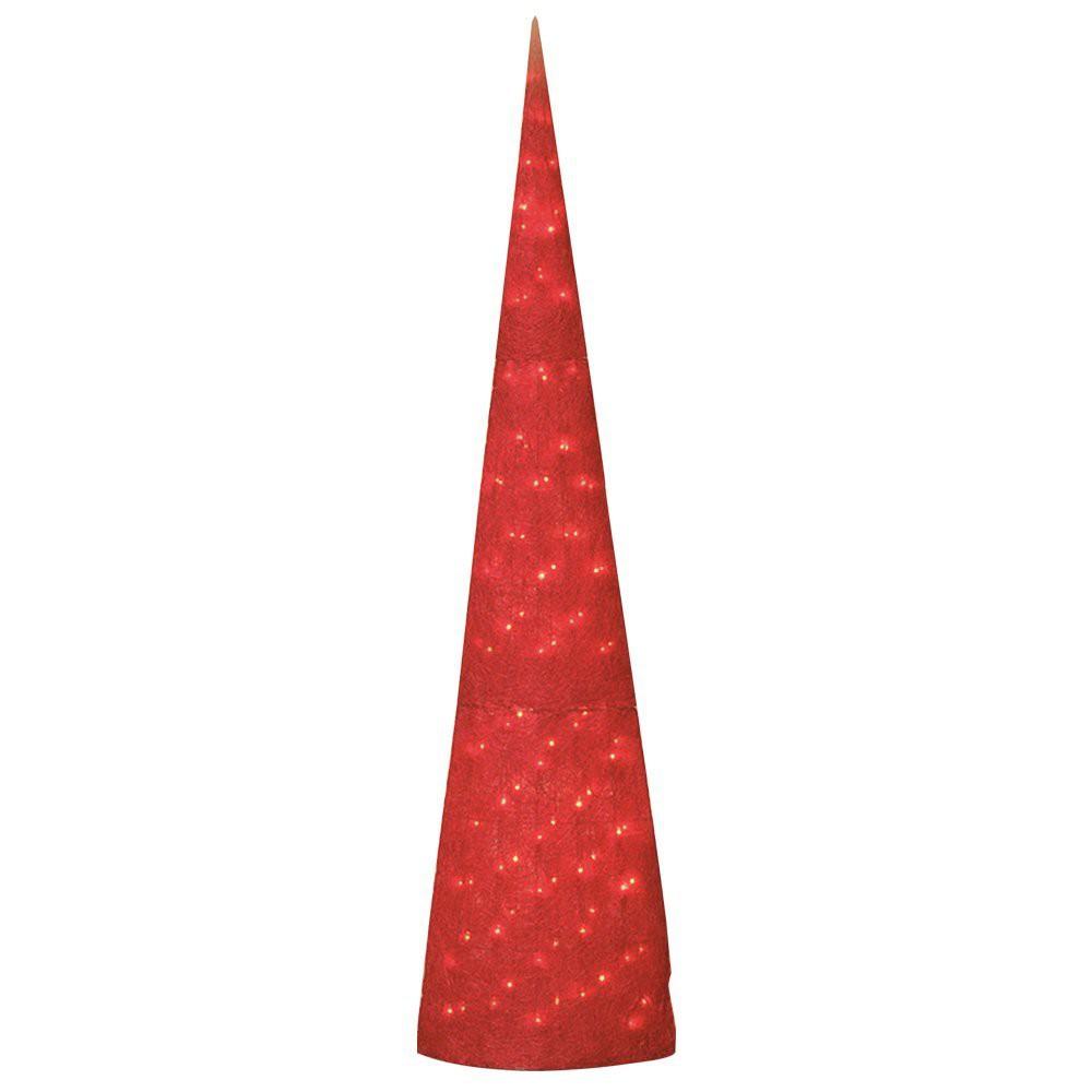 BREMA Obelisk 200cm rot Sisal, mit 100er Kette