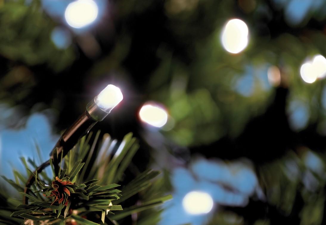 LED Lichterkette 120tlg. mit Außentrafo