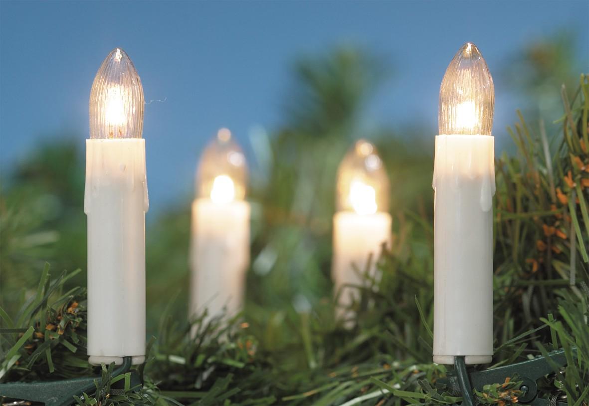 BREMA Lichterkettte 30er weiß innen, 50cm Abstand