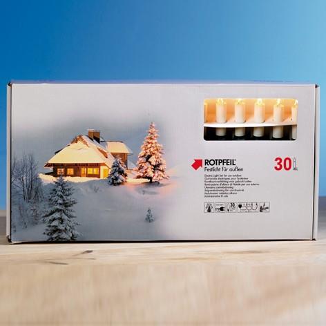 ROTPFEIL Lichterkette 30er außen Schaftlampen 8V/3W
