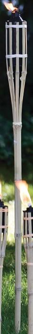 Bambus Gartenfackel 120 cm