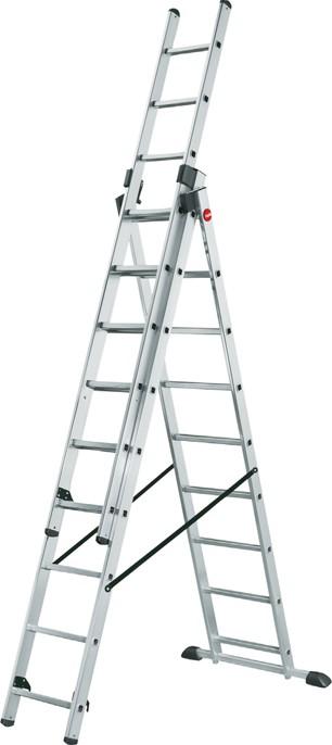 Hailo Kombileiter 3x12 Sprossen MASTER STEP